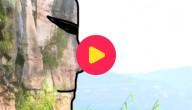 rots met gezicht