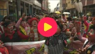 Parade van clowns in Peru