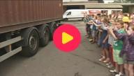 Container met hulpgoederen voor Syrië
