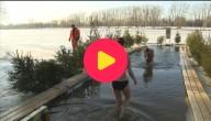 Duiken in ijskoud water