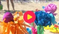 papieren strandbloemen
