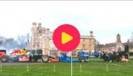 Rugbyteam versus Formule 1-wagen