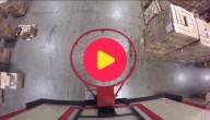 basketten in een magazijn
