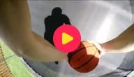 Stunten met een basketbal