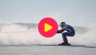 Wereldrecord skiën achter een auto
