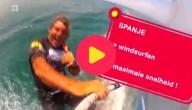 windsurfers in Spanje