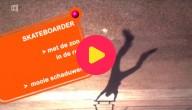 schaduwen van een skateboarder