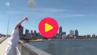 coole tricks met een frisbee
