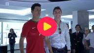 Ronaldo en zijn wassen beeld