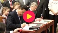 De Chinese president en koning Filip