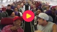 Zingen in het vliegtuig