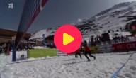 Volleybal in de sneeuw