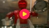 De robot maakt het eten klaar