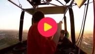 vliegen in een luchtballon