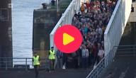 Chaos op de pontonbrug