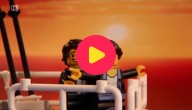 filmfragment Titanic in lego