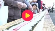 Langste sushirol ooit in Japan