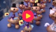 Poppetjes gemaakt van uien