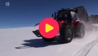 tractor op de Zuidpool