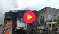 De bakkerij is helemaal afgebrand.