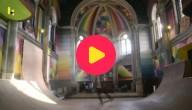 skaten in een kerk