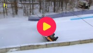 Racen door de sneeuw