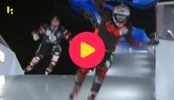 Afdalen op schaatsen