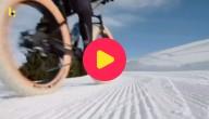 wielen op de sneeuw