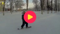 snowboarden met drone