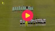 Voetballers houden minuut stilte