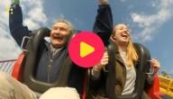 90-jarige naar een pretpark