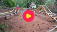 Karrewiet: Opa bouwt roetsjbanen voor kleinkinderen