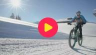 Karrewiet: Fietsen in de sneeuw