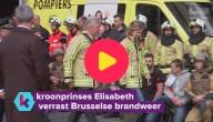 Kroonprinses bezoekt brandweer