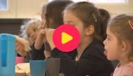 Boterhammen met choco op school
