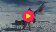 kiteboard sneeuw
