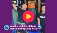 Demi Lovato bokst tand uit
