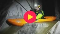 Kajakken in een grot
