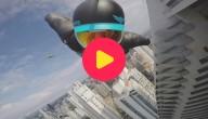 wolkenkrabber skydiver
