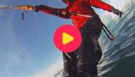 Karrewiet: Kitesurfen tussen ijsbergen