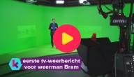 Het eerste tv-weerbericht van weerman Bram