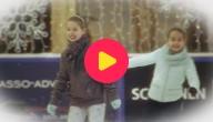 Karrewiet: Line en Polina schaatsen op topniveau