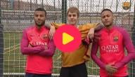 Bieber traint met Barcelona