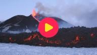 Karrewiet: Vulkaan Etna spuwt Lava