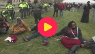 Karrewiet: Protest tegen president Trump
