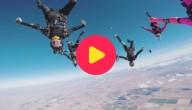 skydivende vrouwen