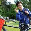 Naar de Chiro fietsen hoort er ook bij. Dit is trouwens mijn geluksteen, die neem ik overal mee naartoe!
