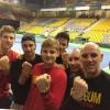 <p>De tennissers van het Belgian Davis Cup Team zijn samen tegen pesten.</p>