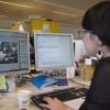Ook de webmaster is volop bezig met artikels te schrijven.
