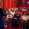 Obama in zijn eigen cinemazaal in het Witte Huis!